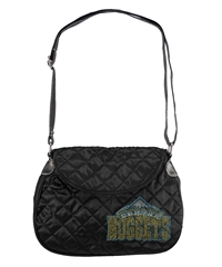 Denver Nuggets NBA Sport Noir Quilted Saddlebag