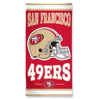San Francisco 49ers NFL Beach Towel (30x60)