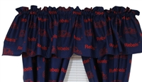 "Ole Miss Rebels Printed Curtain Valance - 84"" x 15"""