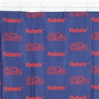 "Ole Miss Rebels Printed Shower Curtain Cover, 70"" X 72"""