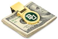 Baylor Bears Money Clip - Gold