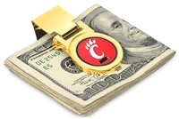Cincinnati Bearcats Money Clip - Gold