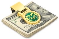 Colorado State Rams Money Clip - Gold