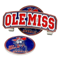 Mississippi Ole Miss Rebels Slider Hat Clip Ball Marker