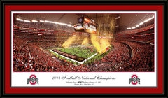 Ohio Ohio State Against All Odds 2015 National Championship Framed Print