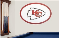 Kansas City Chiefs 46 inch Logo Wall Art
