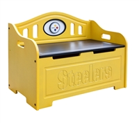 Pittsburgh Steelers Painted Storage Bench