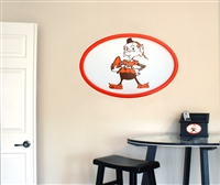 Cleveland Browns 31 inch Logo Wall Art
