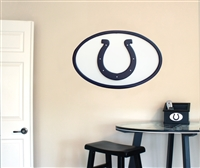 Indianapolis Colts 31 inch Logo Wall Art