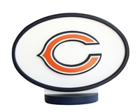 Chicago Bears Logo Art with Stand