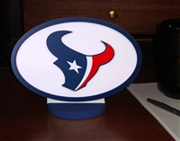 Houston Texans Logo Art with Stand