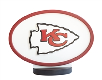Kansas City Chiefs Logo Art with Stand