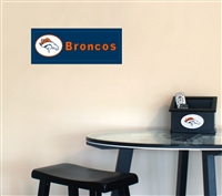 Fan Creations Denver Broncos Team Name Plaque