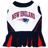 New England Patriots NFL Dog Cheerleader Outfit - Medium