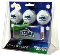 Nevada Wolfpack Slider Hat Clip 3 Ball Gift Pack