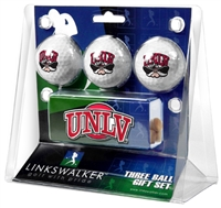 UNLV Runnin' Rebels Slider Hat Clip 3 Ball Gift Pack
