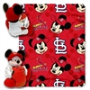 St. Louis Cardinals MLB Mickey Mouse with Throw Combo