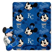 Kansas City Royals MLB Mickey Mouse with Throw Combo