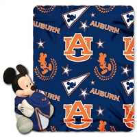 Auburn Tigers NCAA Mickey Mouse with Throw Combo