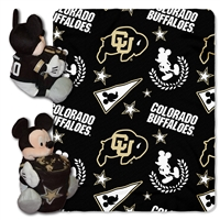 Colorado Golden Buffaloes NCAA Mickey Mouse with Throw Combo