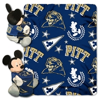 Pittsburgh Panthers NCAA Mickey Mouse with Throw Combo
