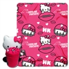 Carolina Panthers NFL Hello Kitty with Throw Combo