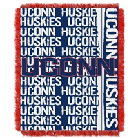 Connecticut Huskies NCAA Triple Woven Jacquard Throw (Double Play Series) (48x60)