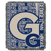 Georgetown Hoyas NCAA Triple Woven Jacquard Throw (Double Play Series) (48x60)