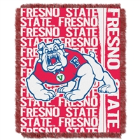 Fresno State Bulldogs NCAA Triple Woven Jacquard Throw (Double Play Series) (48x60)
