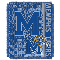 Memphis Tigers NCAA Triple Woven Jacquard Throw (Double Play Series) (48x60)