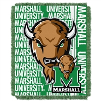 Marshall Thundering Herd NCAA Triple Woven Jacquard Throw (Double Play Series) (48x60)