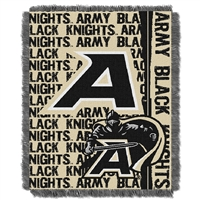 Army Black Knights NCAA Triple Woven Jacquard Throw (Double Play Series) (48x60)