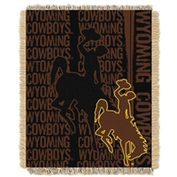 Wyoming Cowboys NCAA Triple Woven Jacquard Throw (Double Play Series) (48x60)