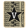 Vanderbilt Commodores NCAA Triple Woven Jacquard Throw (Double Play Series) (48x60)