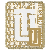 Tulsa Golden Hurricane NCAA Triple Woven Jacquard Throw (Double Play Series) (48x60)