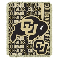 Colorado Golden Buffaloes NCAA Triple Woven Jacquard Throw (Double Play Series) (48x60)
