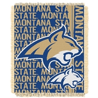 Montana State Bobcats NCAA Triple Woven Jacquard Throw (Double Play Series) (48x60)