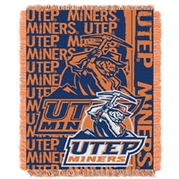 UTEP Miners NCAA Triple Woven Jacquard Throw (Double Play Series) (48x60)