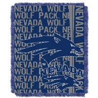 Nevada Wolf Pack NCAA Triple Woven Jacquard Throw (Double Play Series) (48x60)