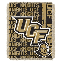 Central Florida Knights NCAA Triple Woven Jacquard Throw (Double Play Series) (48x60)