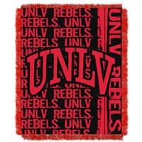 UNLV Runnin Rebels NCAA Triple Woven Jacquard Throw (Double Play Series) (48x60)