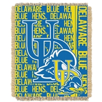 Delaware Fightin Blue Hens NCAA Triple Woven Jacquard Throw (Double Play Series) (48x60)