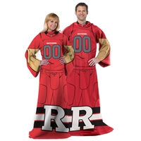 Rutgers Scarlet Knights NCAA Adult Uniform Comfy Throw Blanket w/ Sleeves