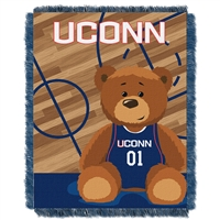 Connecticut Huskies NCAA Triple Woven Jacquard Throw (Fullback Baby Series) (36x48)