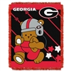 Georgia Bulldogs NCAA Triple Woven Jacquard Throw (Fullback Baby Series) (36x48)