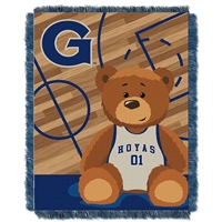 Georgetown Hoyas NCAA Triple Woven Jacquard Throw (Fullback Baby Series) (36x48)