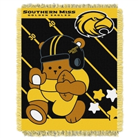 Southern Mississippi Eagles NCAA Triple Woven Jacquard Throw (Fullback Baby Series) (36x48)