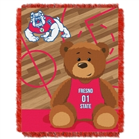 Fresno State Bulldogs NCAA Triple Woven Jacquard Throw (Fullback Baby Series) (36x48)
