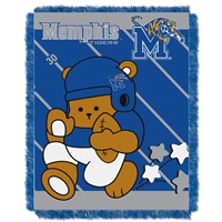 Memphis Tigers NCAA Triple Woven Jacquard Throw (Fullback Baby Series) (36x48)