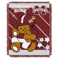 Mississippi State Bulldogs NCAA Triple Woven Jacquard Throw (Fullback Baby Series) (36x48)